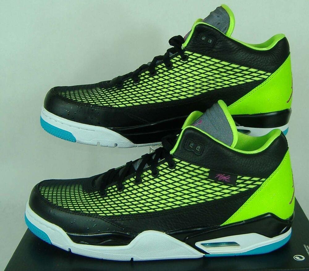 NOUVEAU Homme 13 NIKE Jordan FLTCLB 80's Noir Green Basketball 130 Chaussures 130 Basketball 599583-032 Chaussures de sport pour hommes et femmes 396827