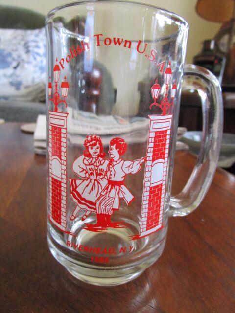 Polish Town Polish Fair Mug Glass Poland Riverhead New York USA 1986 beer drink