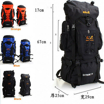 70L Outdoor Travel Backpack Large Capacity Waterproof Mountaineering Bags