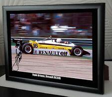 "Rene Arnoux, Renault RE30B Framed Canvas Signed Print ""Great Gift or Souvenir"" 2"