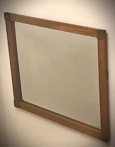 Antique Beveled Gl Mirror Wood Frame