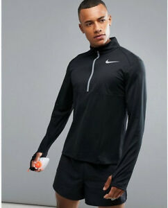 e9b804c86a36 Nike Core Men s Long Sleeve Half-Zip Running Top L Black Shirt ...