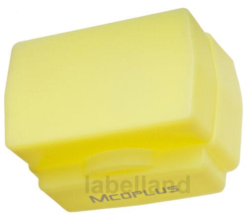 Universal Silicona Amarillo Luz Cálida Flash Domo difusor para la mayoría de flashes f-guns
