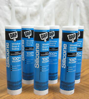 6 Tubes Dap Clear All-purpose 100% Silicone Caulk Sealant Window Door Siding