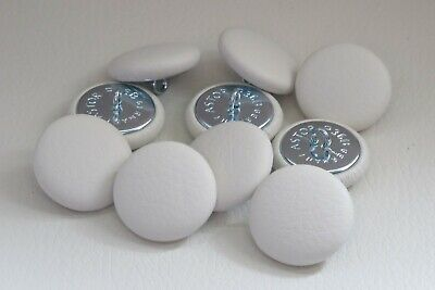 10 INK BLUE NO 30 PRONG BACK UPHOLSTERY BUTTONS FAUX LEATHER LEATHERETTE ECO