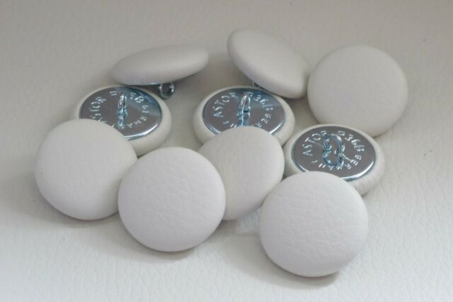 10 Upholstery Buttons 20mm Dark Brown Leather