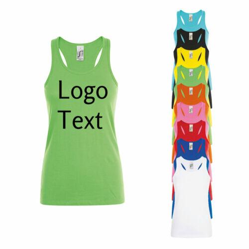 Motiv personalisieren mit Wunschtext Damen Tank-Top Stickerei mit Name