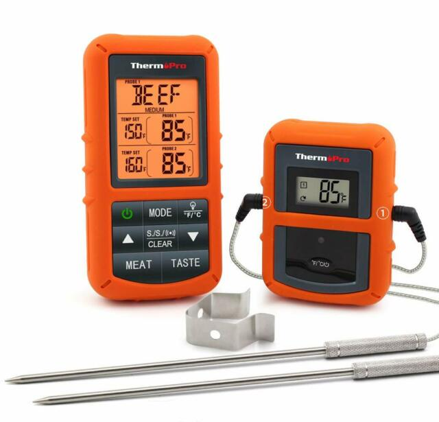 ThermoPro Wireless Remote Digital Cooking Food Meat Thermometer Dual Probe TP20