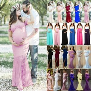 Summer-Women-039-s-Maternity-Maxi-Long-Dress-Casual-Photography-Props-Pregnant-Gown