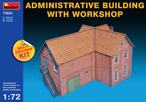 Miniart-72021-1-72-Administrative-Building-with-Workshop