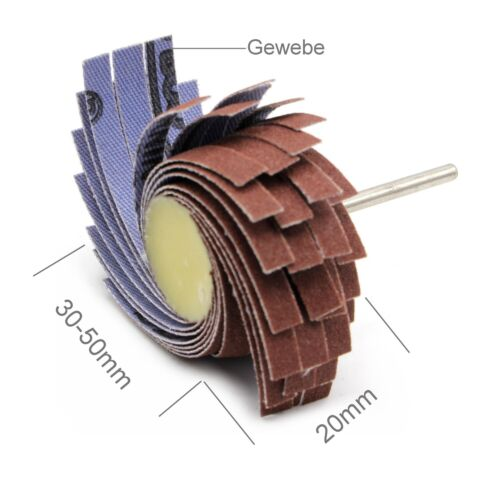 4x Schleiffächer K 600 Fächerschleifer 30-50 x 20mm für Dremel Proxxon Schleifer