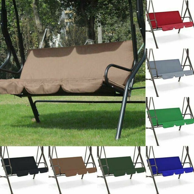 Deluxe Garden 3 Seater Replacement Swing Hammock Cushion Set Mount Green Design For Sale Ebay