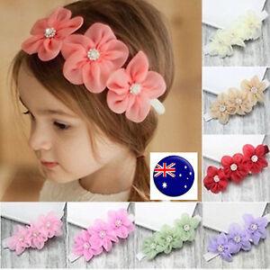 kids baby girls children sweet chiffon lace flowers