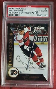 Eric-Lindros-1992-PINNACLE-Team-2000-Authentic-PSA-GOLD-INK-Autograph-TheGreat88