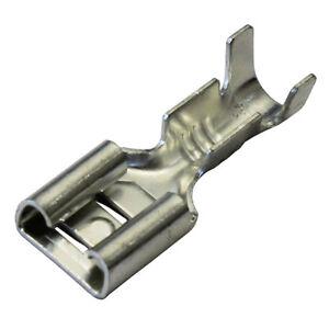 100-x-6-3mm-Uninsulated-Female-Spade-Push-On-Crimp-Terminal-Non-Insulated-2-E6N6