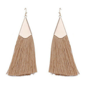 Vintage-Women-Bohemian-Triangle-Long-Tassel-Dangle-Statement-Earrings-Jewelry-HS