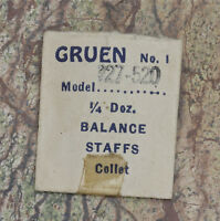 Gruen 327 Gruen Watch Movement Balance Staff Fits Gruen 520 Gruen 327 328 329