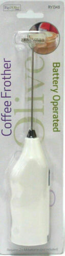 AA Battery Operated Milk /& Coffee Frother Handy Stainless Steel Whisk