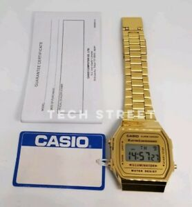Casio-Classic-Digital-Watch-A168WA-1YES-Gold-Fast-Speedy-Delivery