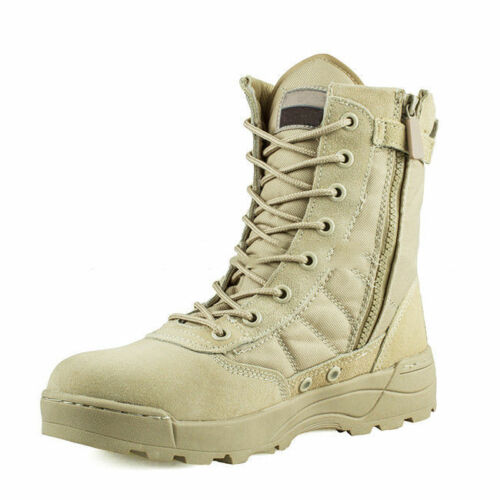 Desert Army Combat Patrol Men/'s Boots Tactical Military Work Tan Jungle 4705HC