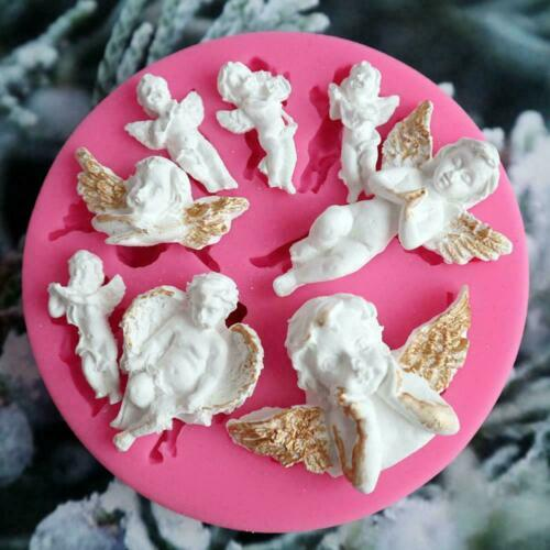 3D Silicone Angel Shape Mold DIY Cake Chocolate Fondant Decorating G3R3