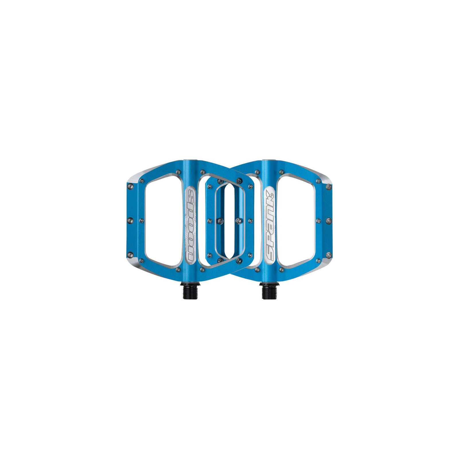 Spank Spoon Large (110mm) Pedals, blueee