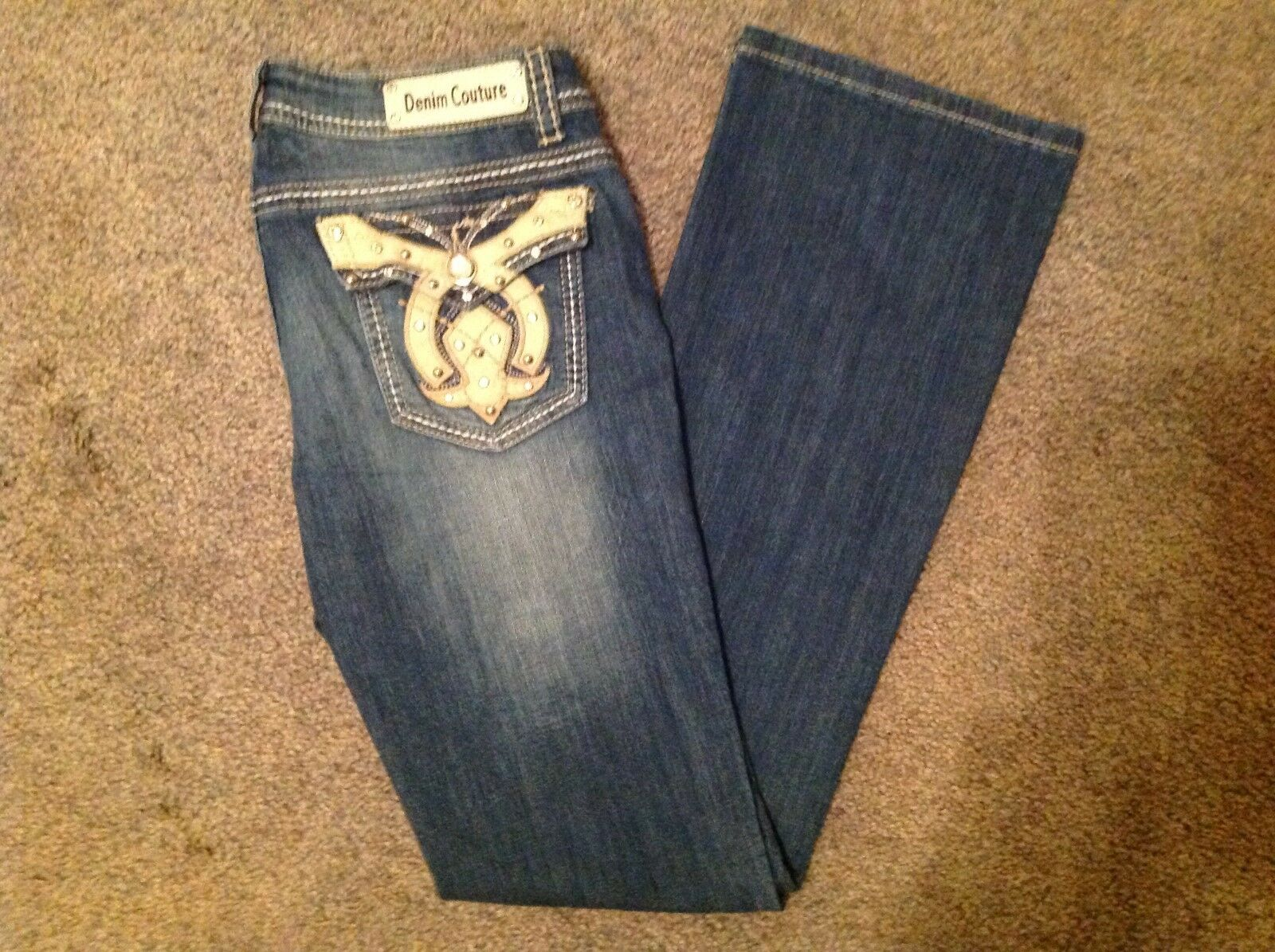 Denim Couture Jeans Bootcut Horseshoe
