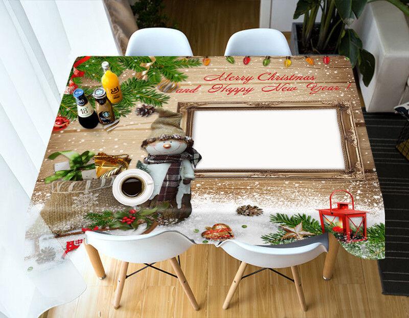 3D Cubierta De Navidad Navidad 21 Mantel Paño Fiesta de Cumpleaños Evento AJ Wallpaper