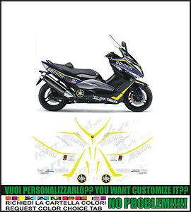 Carbono 2 Adhesivos Stickers 3D Pegatinas Compatible con Yamaha Tmax 2008-2011