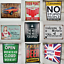 Quirky-Metal-Wall-Hanging-Plaques-Loads-of-Styles-30x40x1cm-Signs thumbnail 2