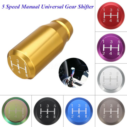 5 Speed MT Manual Universal Gear Shift Shifter Knob Aluminum Neo Chrome Polished