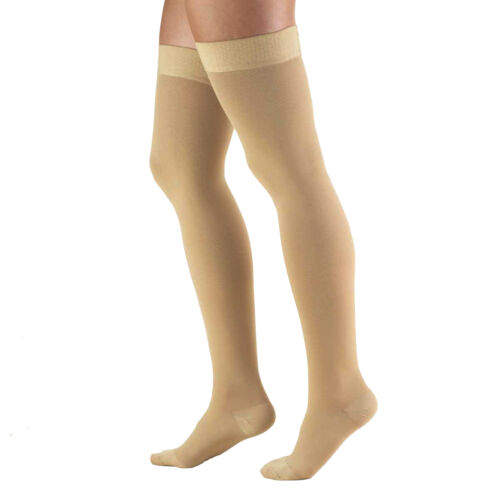 Truform Classic Medical 2030 mmHg CLOSED TOE Thigh High Silicone Dot Band 8868