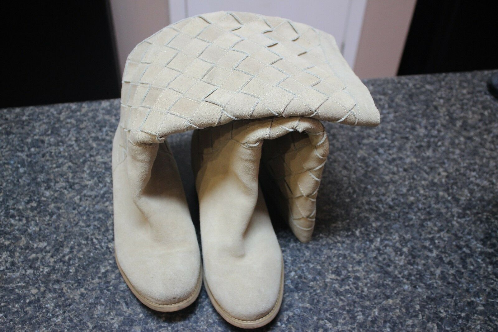Suede Boots Tan Stacked Heel Size 8.5 Good Condition Target boots 8.5 LOT
