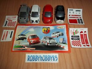 FIAT 500 ABARTH COMPLETE SET WITH ALL PAPERS KINDER SURPRISE 2013