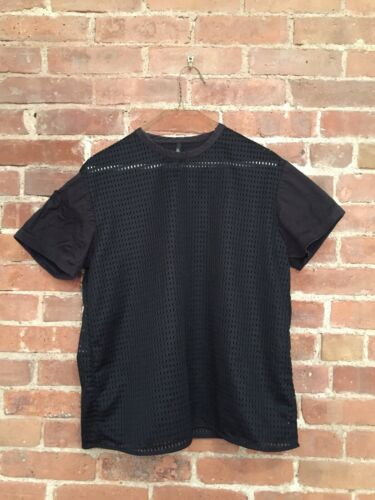Neil Barrett Men's Tee, Mesh Fits Medium Italy