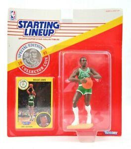 NEW NOS 1991 Reggie Lewis Boston Celtics Rookie Starting Lineup Coin Vintage J