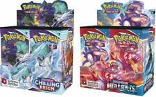 Chilling Reign + Battle Styles Booster Box Display Pokemon TCG Sword and Shield