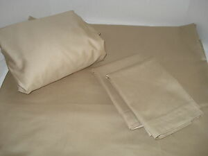 New King sheet set cotton rich 250 TC Tan