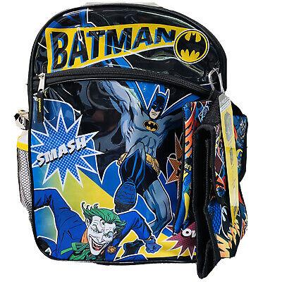 Batman Backpack 5 Piece Set Kids School Essentials Lunch Bag Water Bottle Black 843340200163 Ebay