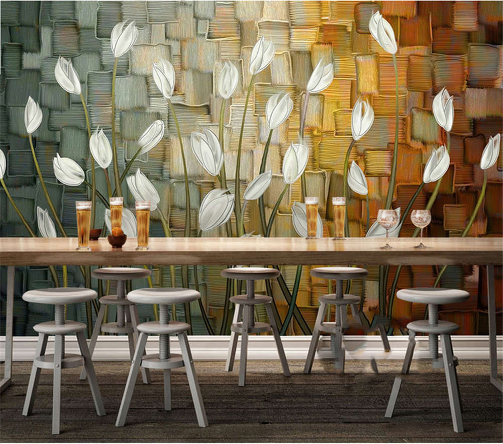 Pure Weiß Lilies 3D Full Wall Mural Photo Wallpaper Printing Home Kids Decor