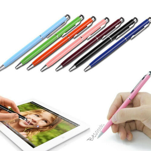 2PCS 2 in 1 Capacitive Pen Touch Screen Stylus Writing Pencil for iPhone IPAD