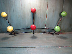 ancien porte manteau multicolore boule color eames vintage design xx me ebay. Black Bedroom Furniture Sets. Home Design Ideas