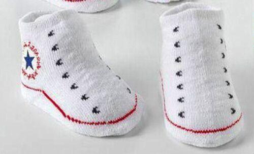 1 paire nouveau-né tout-petits baby boys /& Girls Anti Glisse Chaussettes Chaussons Pointure