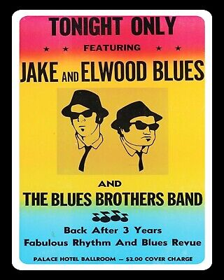 Blues Brothers Tin Sign Man Cave Concert Poster Vintage Ad Style Jake /& Elwood