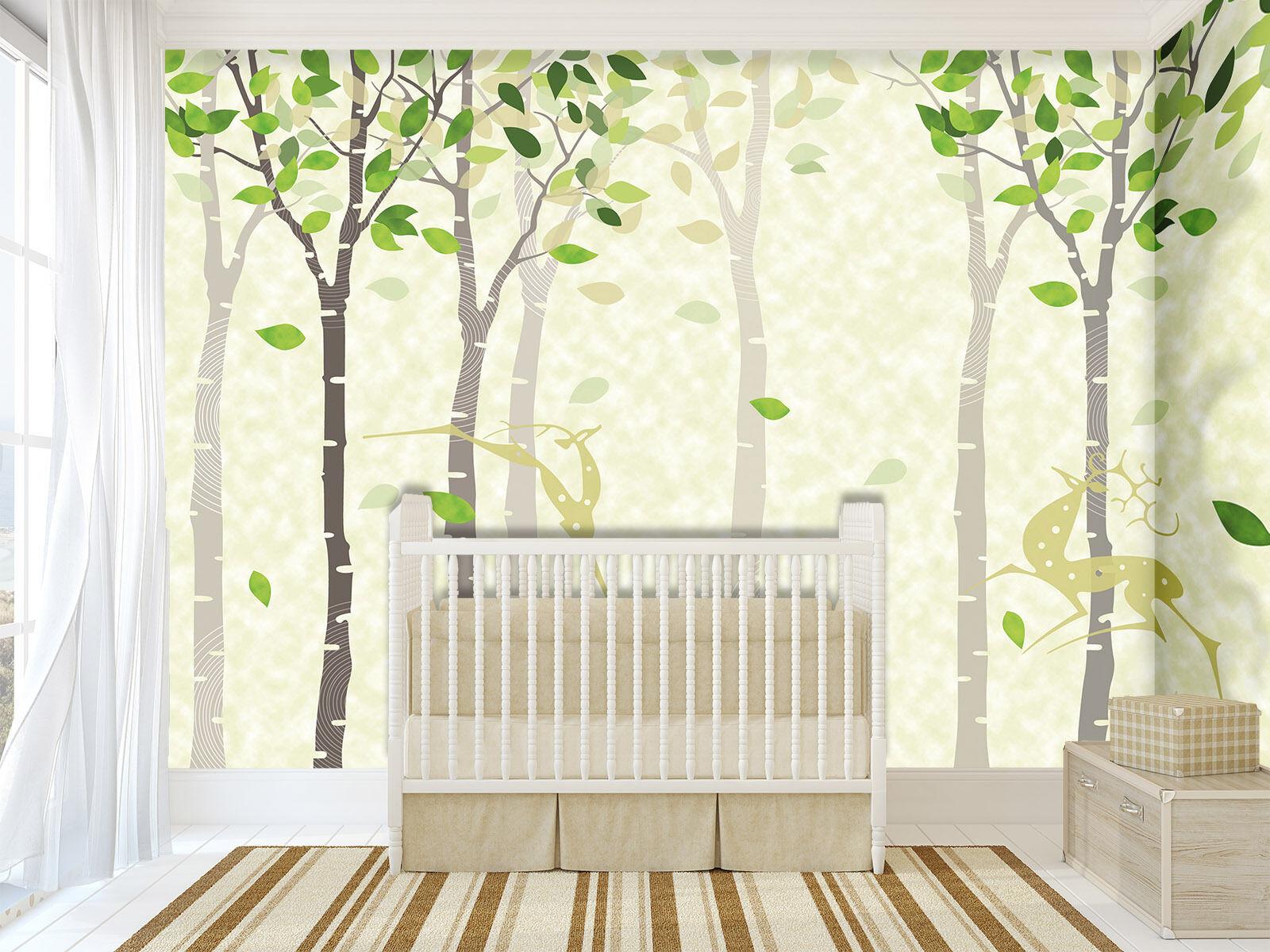 3D Spring Little Tree 92 Wall Paper Decal Dercor Home Kids Nursery Mural  Home