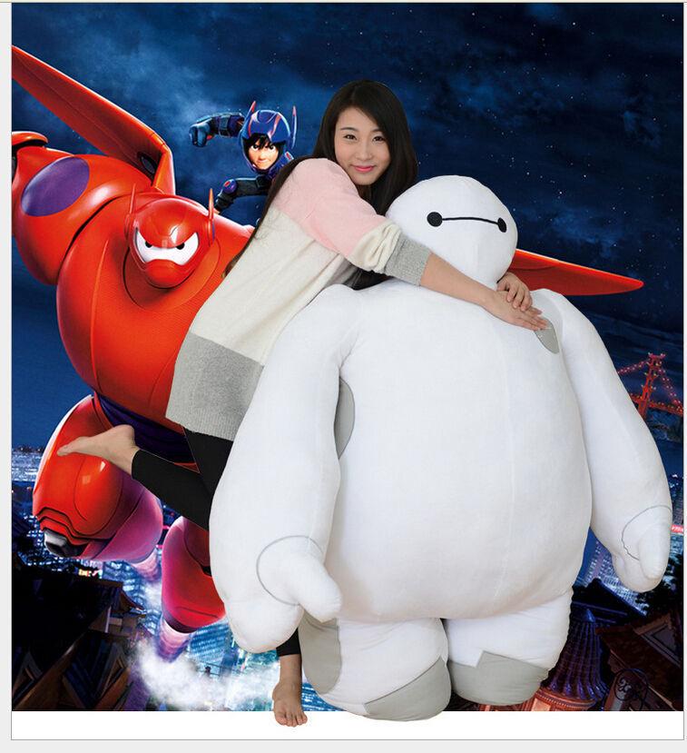 150cm bianca BIG HERO 6 BAYMAX ROBOT Plush Stuffed Toy Dolls 7.5kg  +EMS SHIP