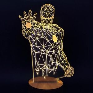 Image Is Loading IRON MAN Novelty Unique 3D Illusion Bulb Lamp