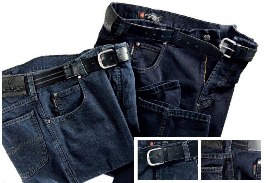 PIONIER Unterbauch Jeans PETER 27K-40K (W40-W62) untersetzte Konvex Kurzgröße