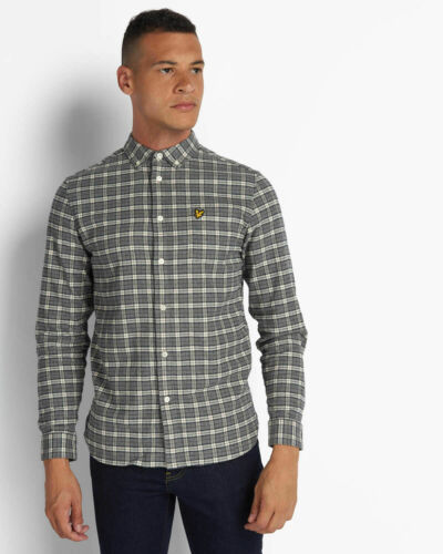 Cotton Lyle and Scott Mens Check Flannel Shirt