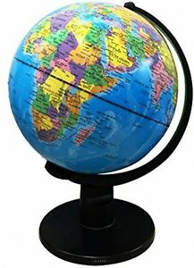Round Globe Map.Kids Educational 30 Cm Swivel Globe Earth Rotating World Political
